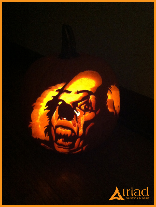 Pumpkin carving zombies and clowns triad marketing